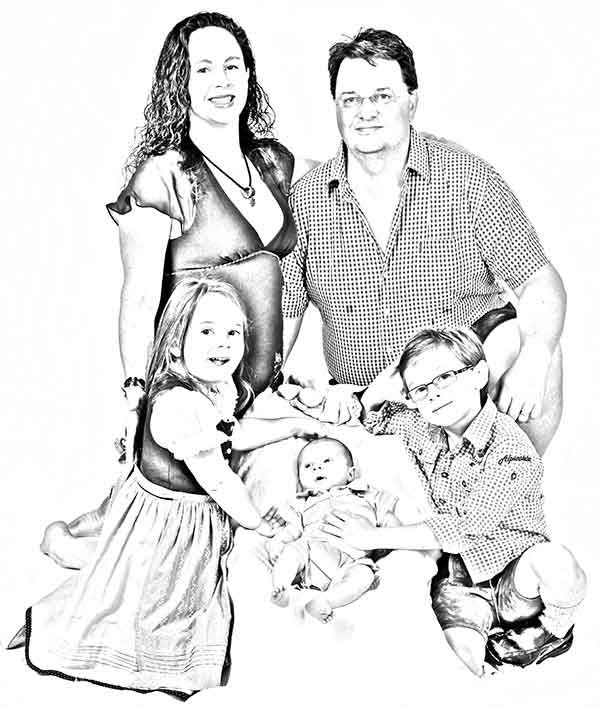 Family Sketch Pic