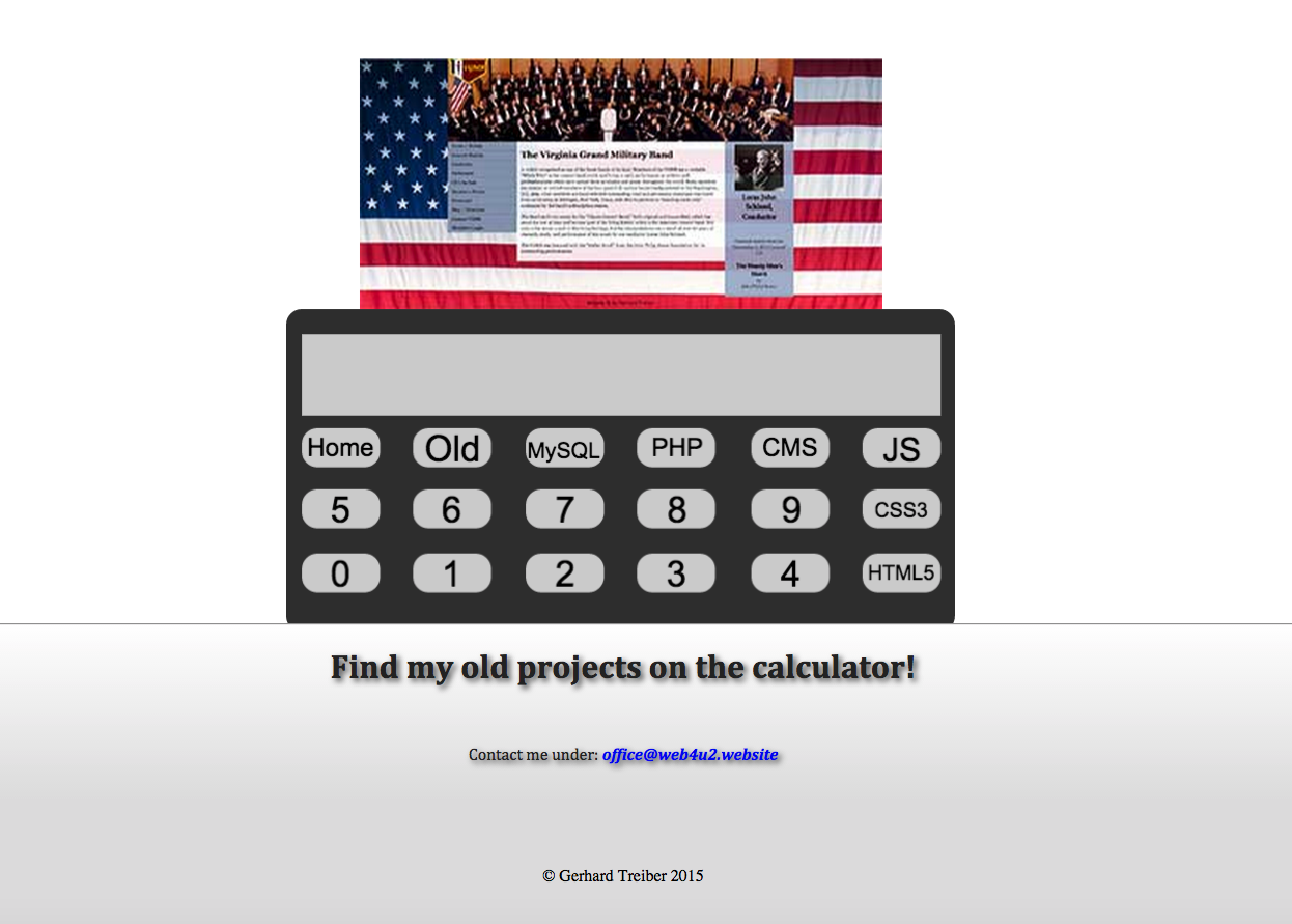 Calculator that outputs homepages